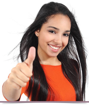 Write Us A Review thumbs up girl Dr. Duane S. Shank, DDS Smithtown NY